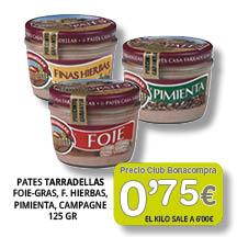 Foie-gras Tarradellas 0'75 euros