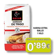 Harina Extra Gallo 0'89 euros
