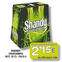 Shandy Cruzcampo pack-6 - 2'15euros