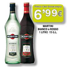 Martini Blanco o Rosso 6'99 euros