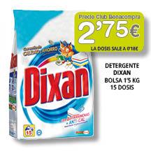 Detergente Dixan 1'5 kg - 2'75 euros
