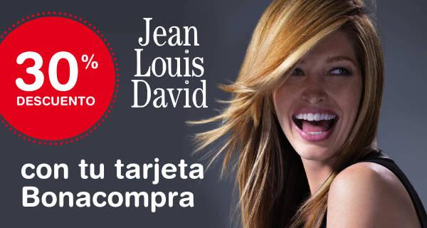 30% de descuento en la peluquería Jean Louis David del centro comercial Binipreu Menorca solo con tu tarjeta Bonacompra